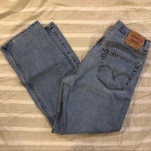 Levi's 505 Mens Regular Fit Light Blue Jeans 34x30